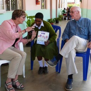 Tanzania - sponsors with student